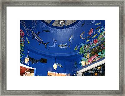 Decks Mural 2 Framed Print by Carey Chen