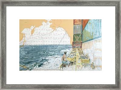 Deckwork At Sea Framed Print