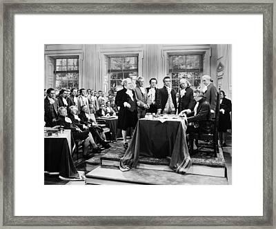 Declaration Of Independece Framed Print by Granger