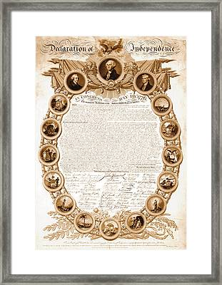 Declaration Of Independence 1818 Framed Print by Padre Art