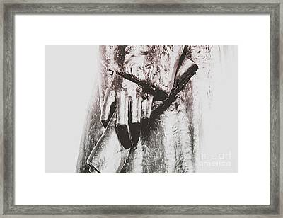 Declaration Of Independence In Jeffersons Hand Framed Print by Darcy Michaelchuk