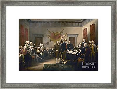 Declaration Of Independence Framed Print by Pg Reproductions
