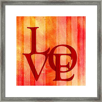 Declaration Of Love Framed Print