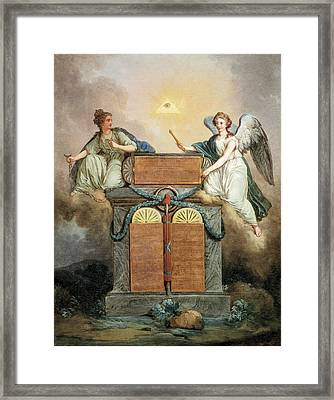 Declaration Of The Rights Of Man Framed Print by Everett