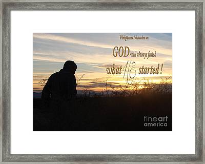 Declare Gods Word Framed Print by Beverly Guilliams