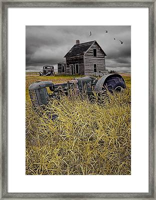 Decline Of The Small Farm No 2 Framed Print