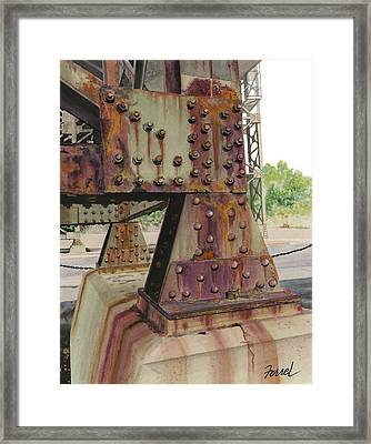 Framed Print featuring the painting Declining Infrastructure by Ferrel Cordle