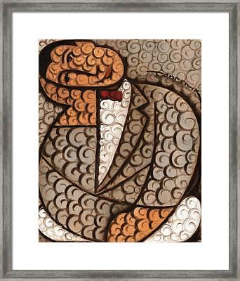 Deco Abstract Pee Wee Herman Art Print Framed Print by Tommervik