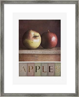 Deco Apples Framed Print