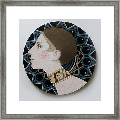 Deco Barbra Framed Print