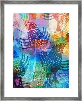 Deco Birds Framed Print by Lutz Baar