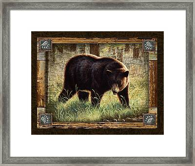 Deco Black Bear Framed Print by JQ Licensing