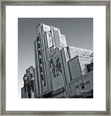 Deco Building In Black And White Framed Print by Gregory Dyer