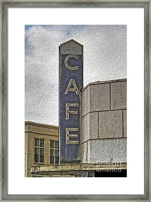 Deco Cafe - 01 Framed Print by Gregory Dyer