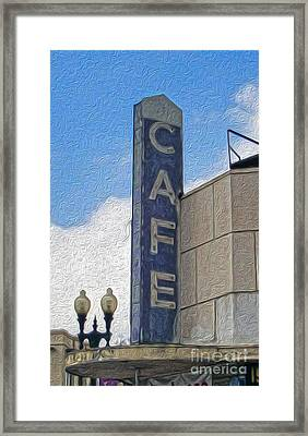 Deco Cafe - 02 Framed Print by Gregory Dyer
