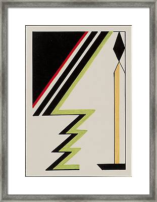 Deco Candle With Christmas Tree Framed Print by Carolyn Hubbard-Ford