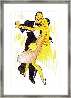 Deco Dancers Framed Print by Mel Thompson