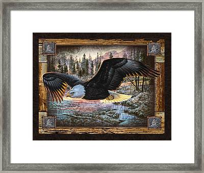 Deco Eagle Framed Print