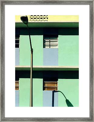 Deco Lines Framed Print by Mary Bedy