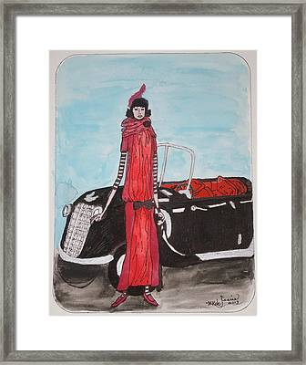 Deco Mama W/convertible Framed Print by Mary Kay De Jesus