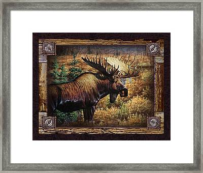 Deco Moose Framed Print by JQ Licensing