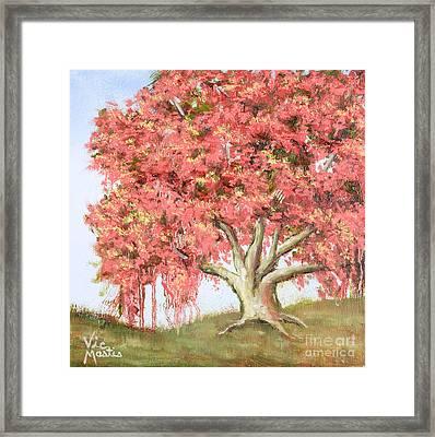 Deco Tree Framed Print by Vic  Mastis