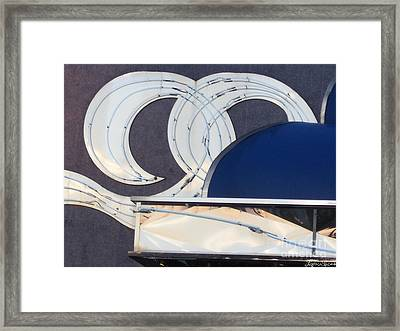 Framed Print featuring the photograph Deco Waves by Lyric Lucas