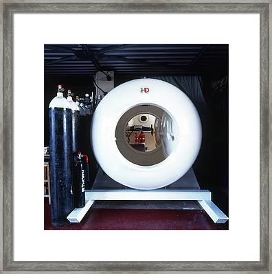 Decompression Chamber And Row Oxygen Tank Framed Print