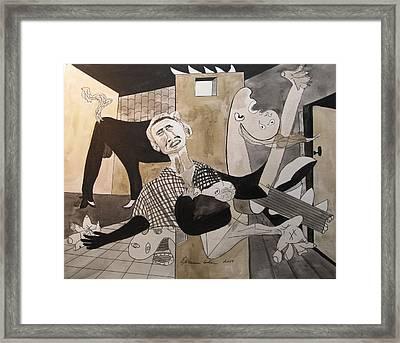 Deconstructing Picasso - La Agonia Espanola Framed Print by Esther Newman-Cohen