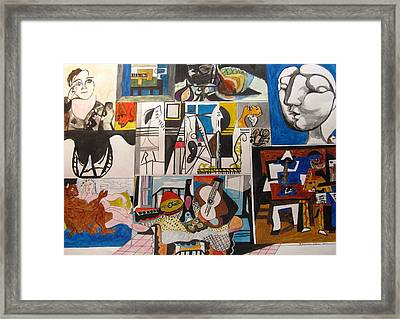 Deconstructing Picasso - Women And Musicians Framed Print