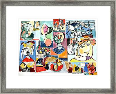 Deconstructing Picasso - Women Sad And Betrayed Framed Print