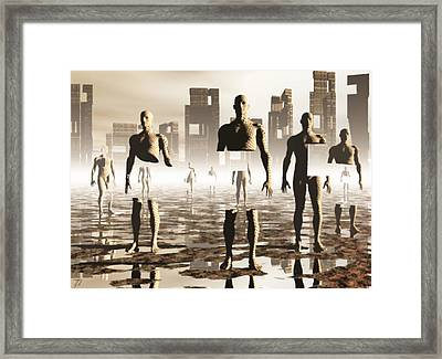Framed Print featuring the digital art Deconstruction by John Alexander