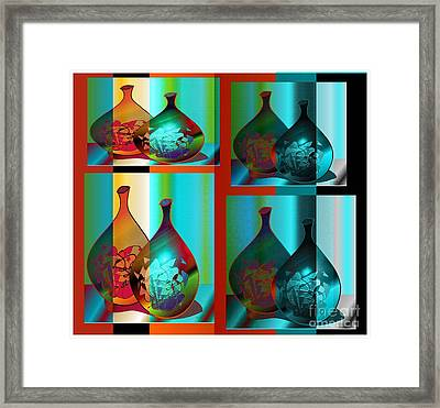Framed Print featuring the digital art Decor 2 by Iris Gelbart