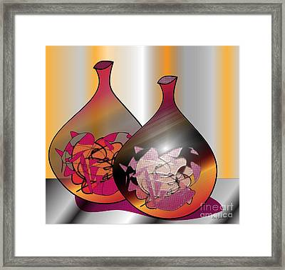Framed Print featuring the digital art Decor by Iris Gelbart