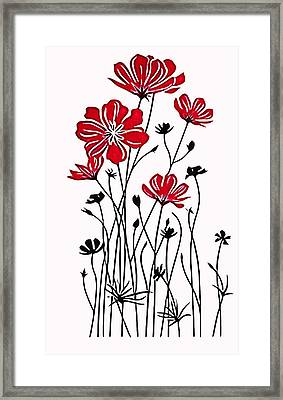 Decoracion De Flores Framed Print by Galeria Zullian  Trompiz