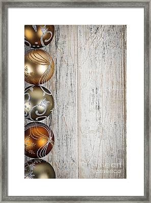 Decorated Christmas Ornaments Framed Print by Elena Elisseeva