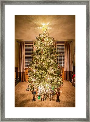 Framed Print featuring the photograph Decorated Christmas Tree by Alex Grichenko