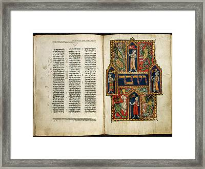 Decorated First Word Framed Print by British Library