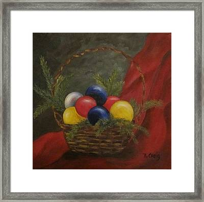 Decorated For Christmas Framed Print by Nancy Craig