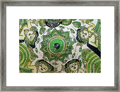 Decorated Hat, Bali, Indonesia (large Framed Print