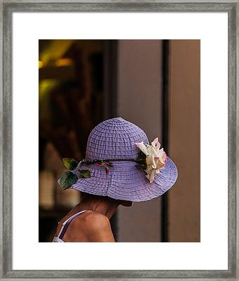Decorated Hat Framed Print