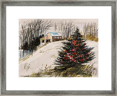 Decorated In The Snow Framed Print by John Williams
