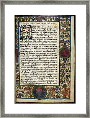 Decorated Page Framed Print by British Library
