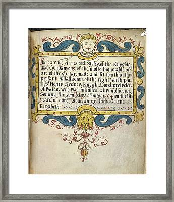 Decorated Title Page Framed Print by British Library