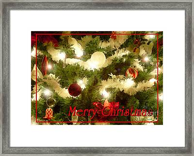 Decorated Tree Christmas Card Framed Print