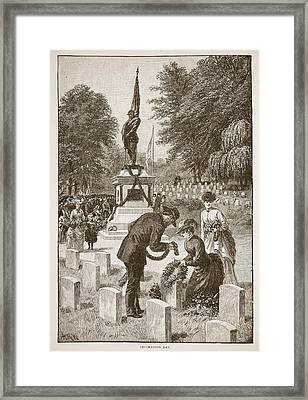 Decoration Day, From A Book Pub. 1896 Framed Print