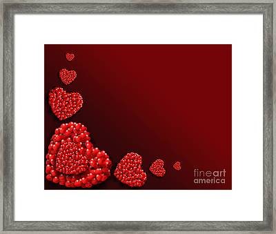 Decoration Of Heart Shaped Hearts Framed Print by Kiril Stanchev
