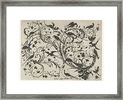 Decoration With Flowers And Birds, Anonymous Framed Print by Anonymous