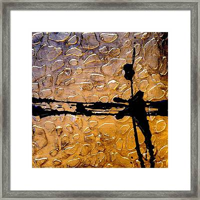 Decorative Abstract Giraffe Print Framed Print by Holly Anderson