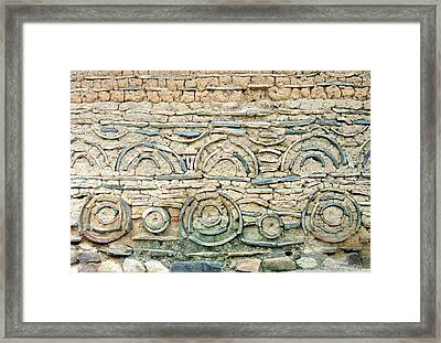 decorative architecture photographs - Korean Wall Framed Print